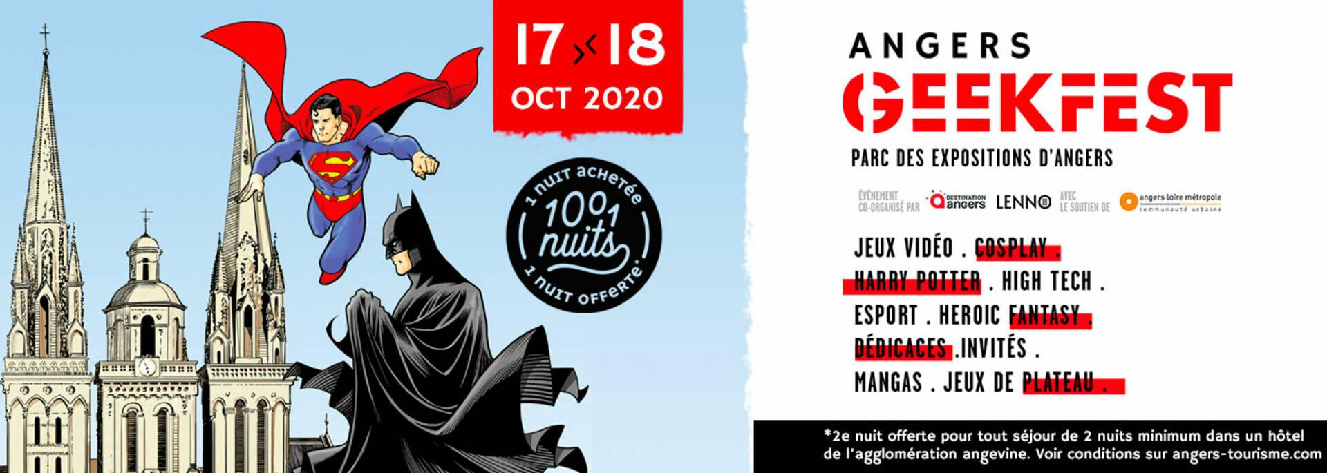 Offre Angers GeekFest et 1001 nuits d'hôtels à Angers