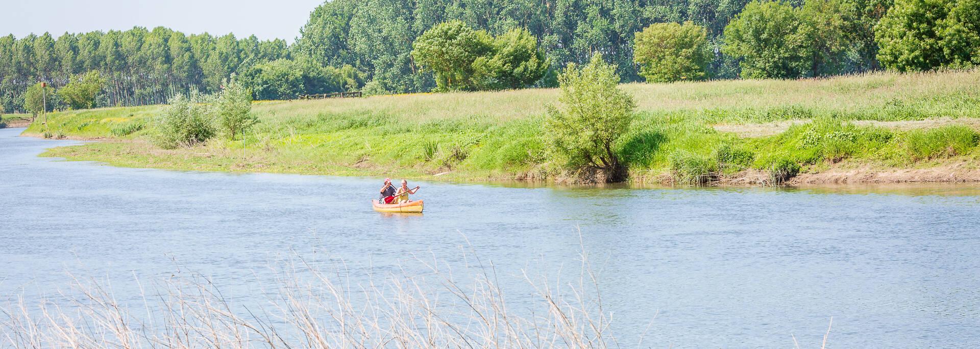 Kayak sur la Sarthe à Briollay