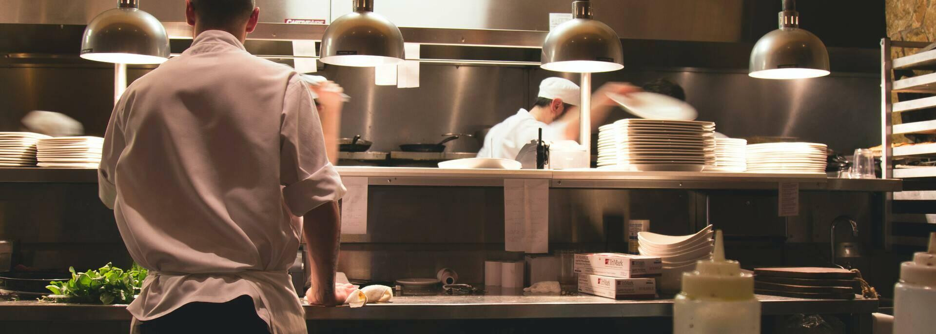 Cuisine d'un restaurant