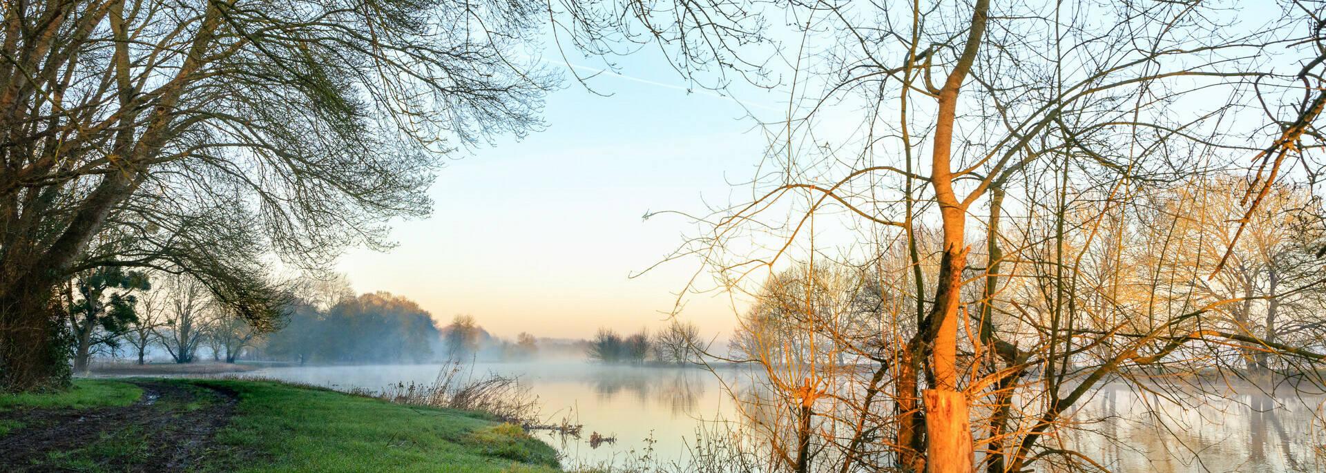 Sur les rives du Loir en hiver
