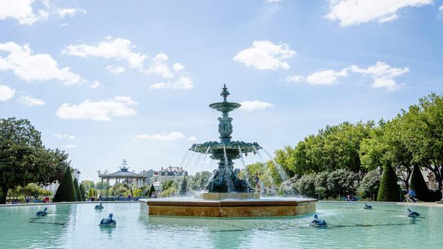 Jardin du Mail à Angers, été 2020