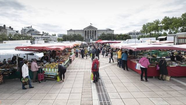 Place Leclerc market in Angers