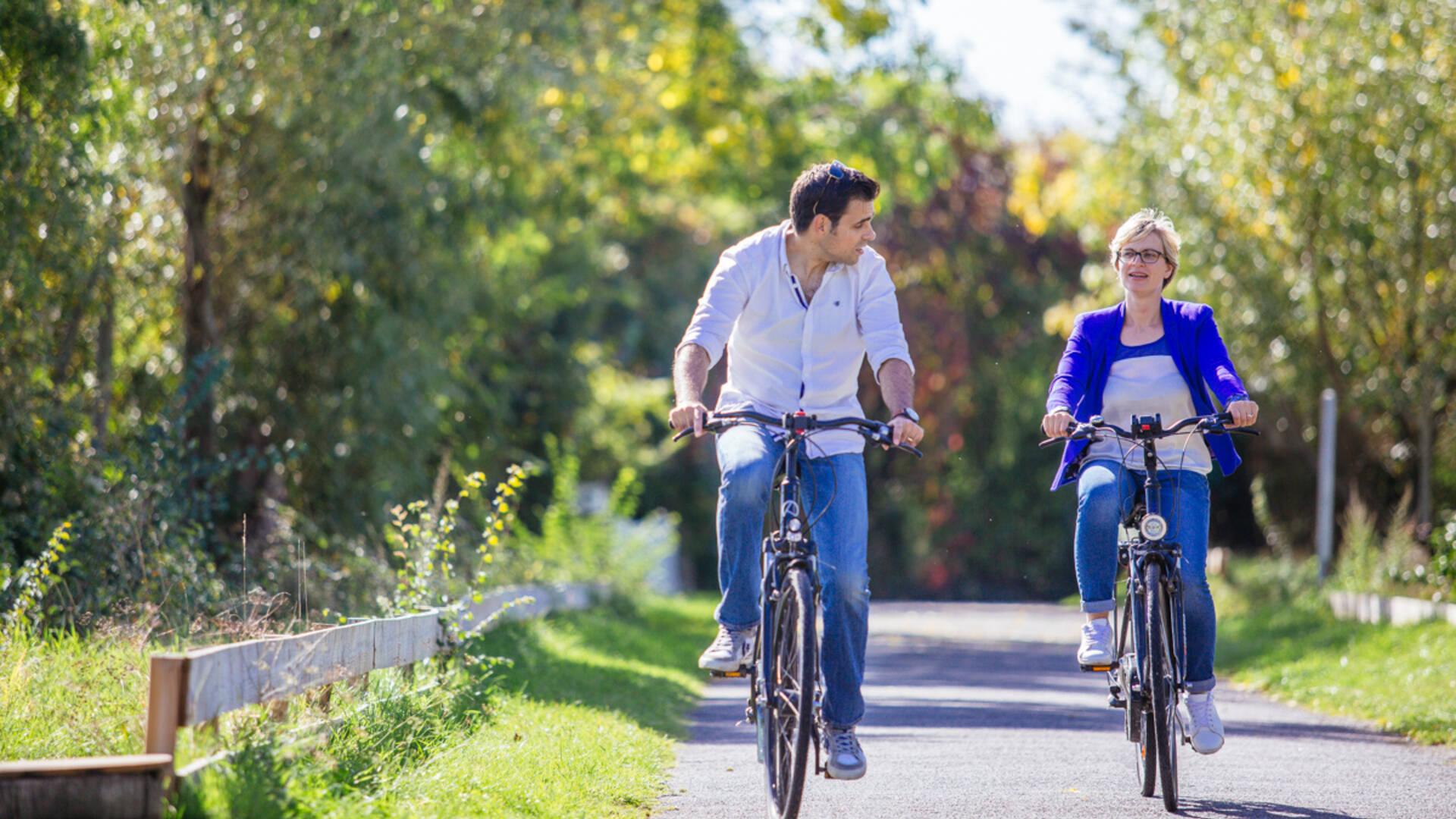 Balade à vélo sur l'île de Béhuard