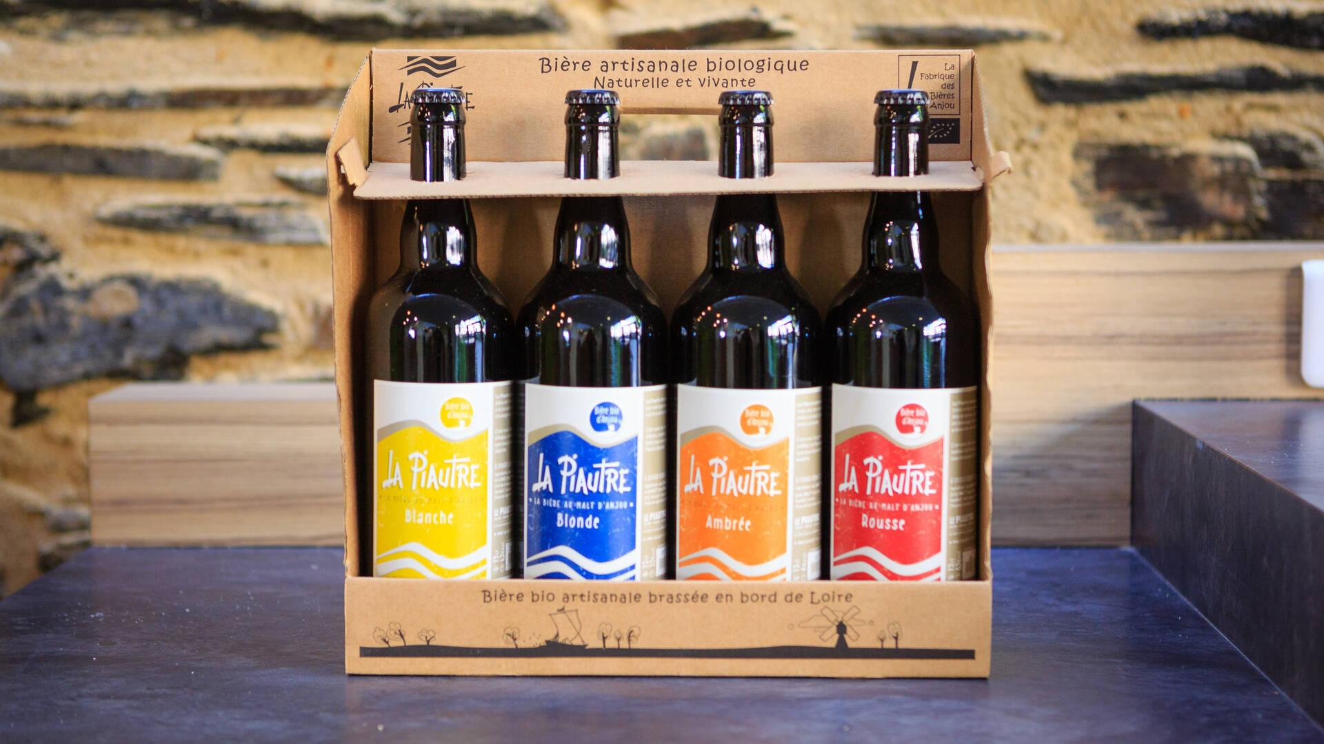 Bières La Piautre, pack de 4 bouteilles