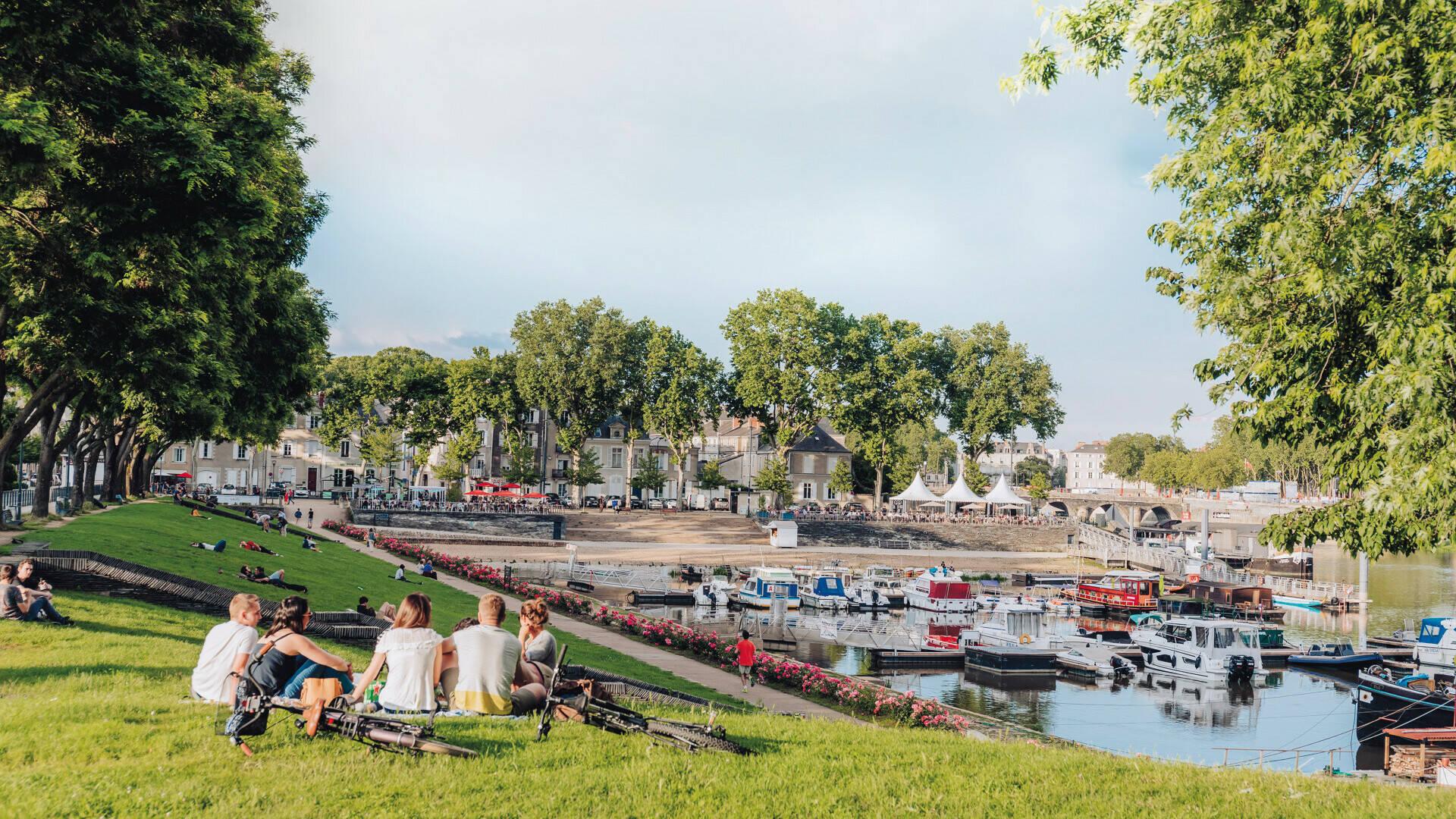 Pique-nique Cale de la Savatte entre amis à Angers