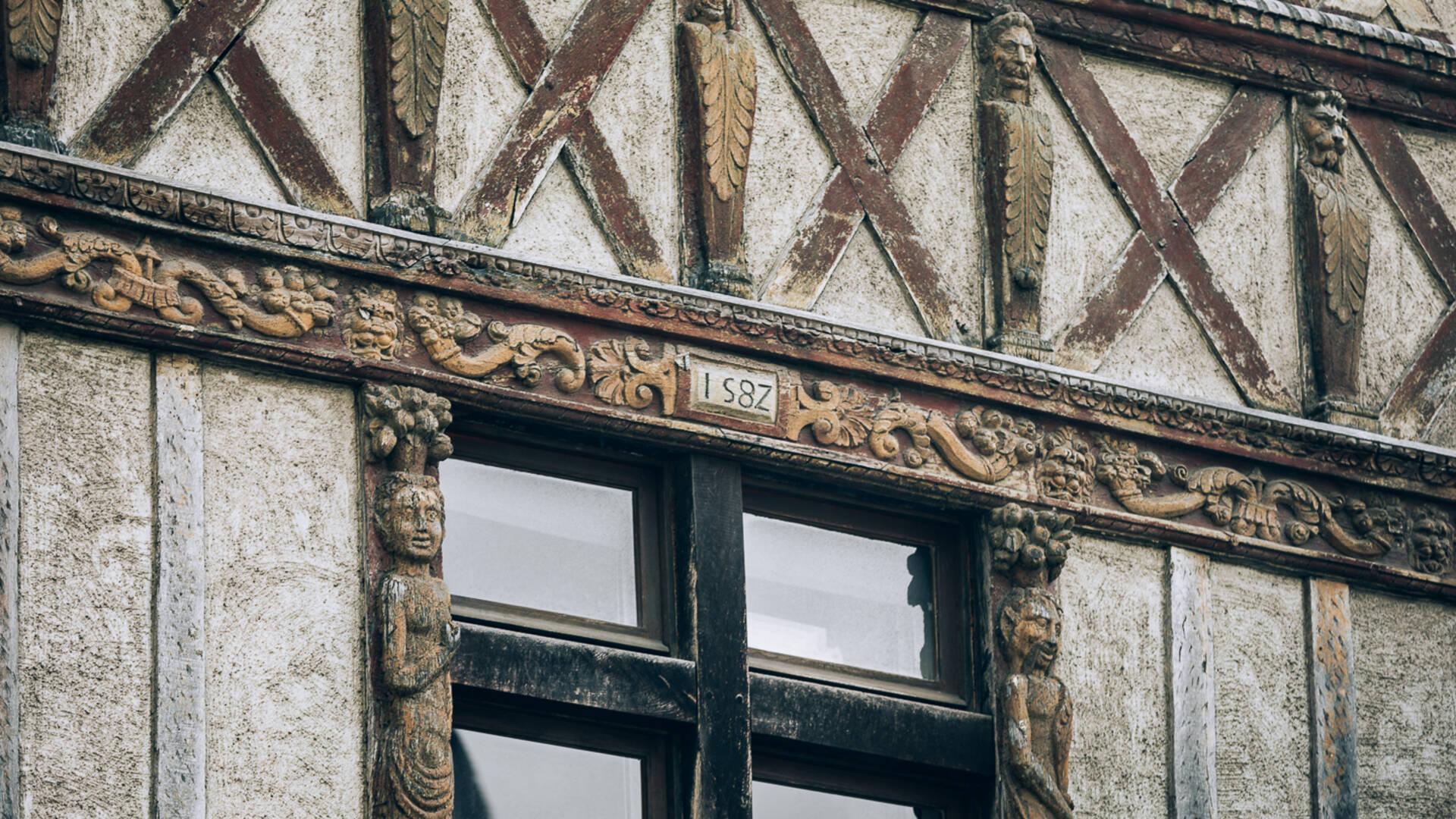 Détails, quartier de la Doutre à Angers