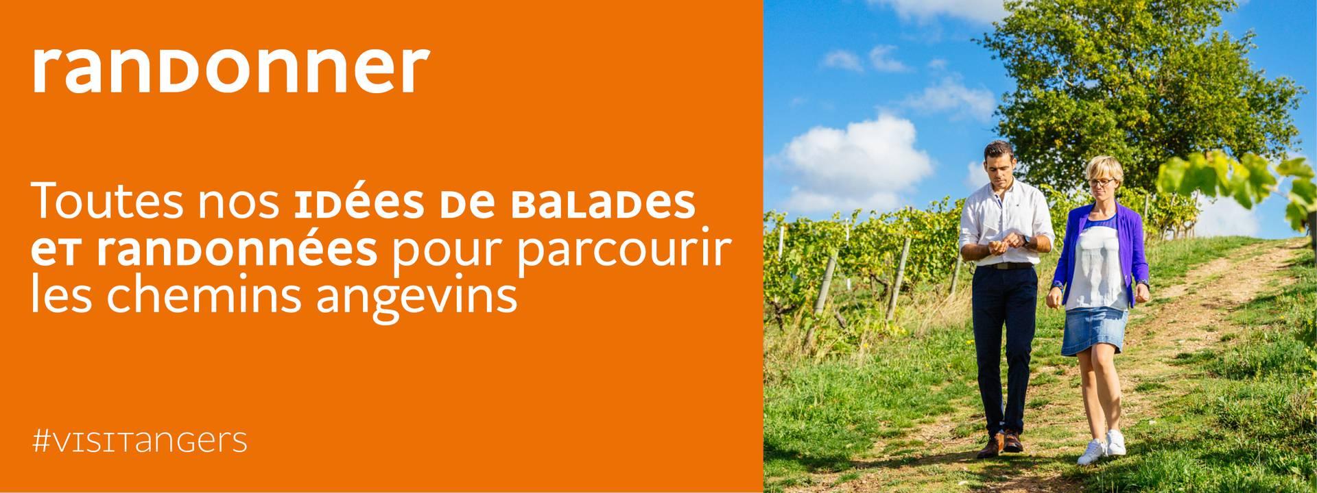 Publicité pour la randonnée à Angers