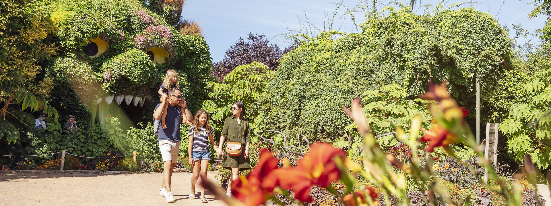 Famille au Parc Terra Botanica