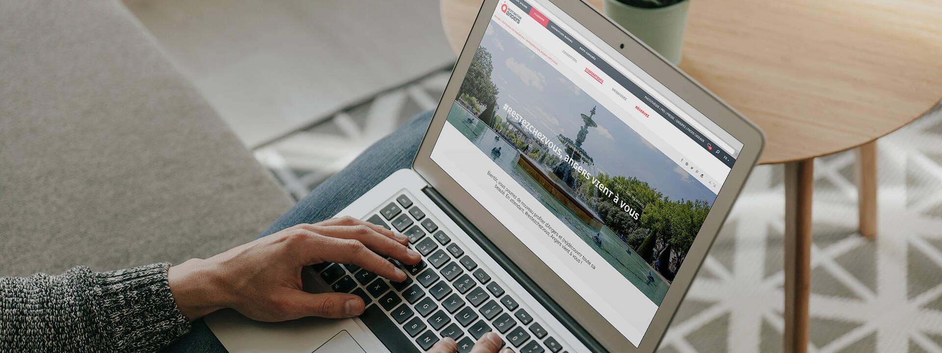Site web Destination Angers tourisme pendant le confinement