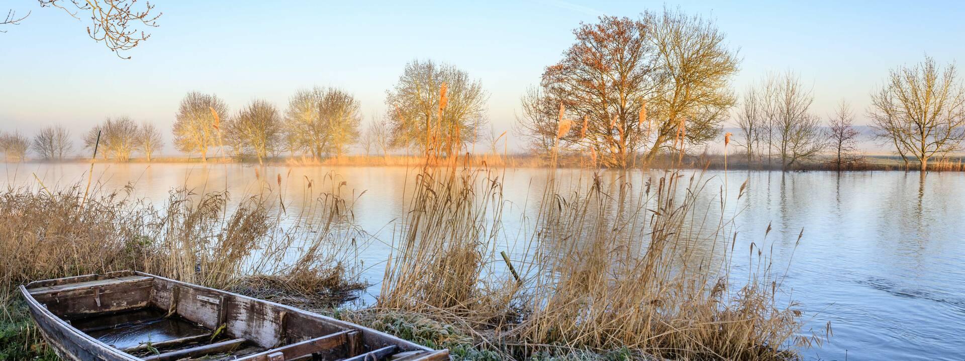 L'hiver a pris ses quartiers au bord du Loir © Destination Angers