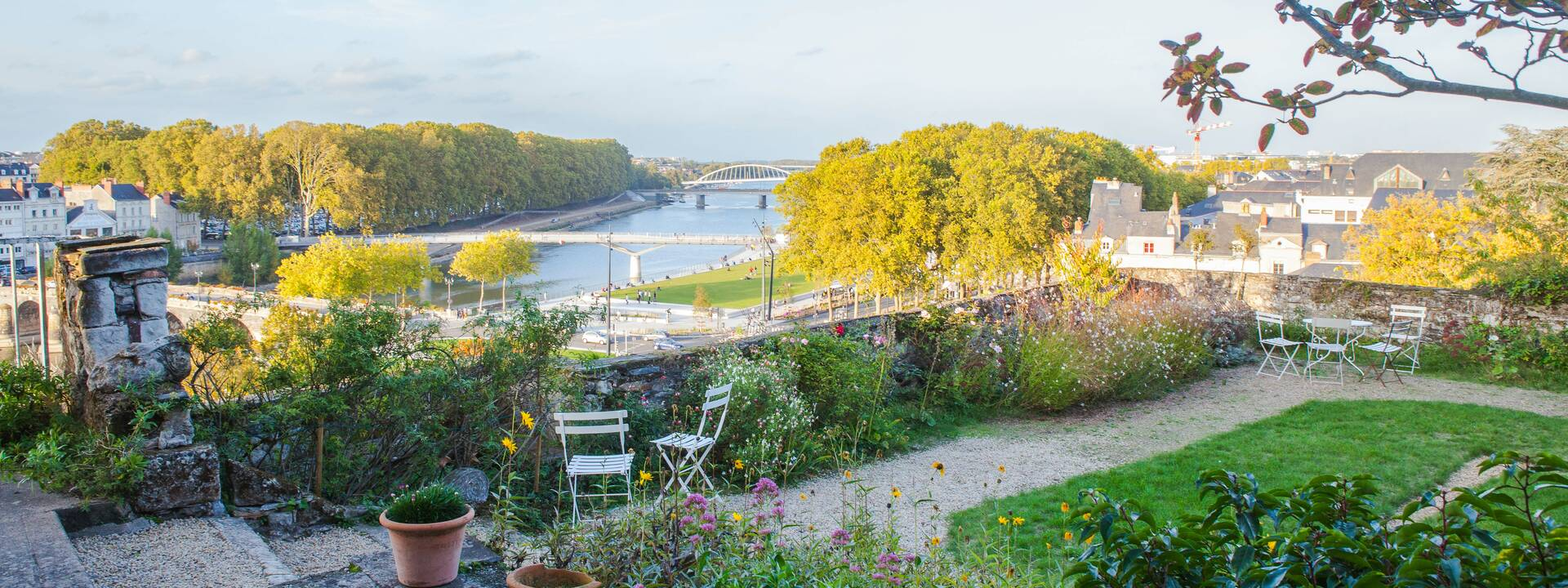 View of Maine from the Donadieu Salons © Destination Angers
