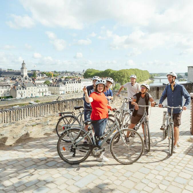 Découverte d'Angers à vélo entre amis