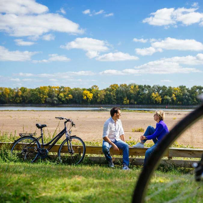 Balade à vélo en bord de Loire