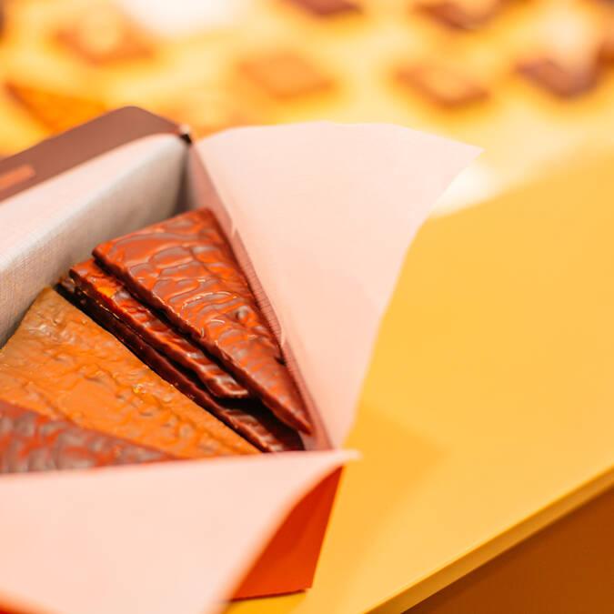 Caramandes de la chocolaterie Benoit © Les Conteurs