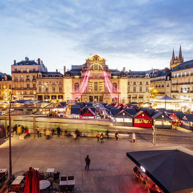 Place du Ralliement à Angers pendant Soleils d'hiver 2018 © Christophe Martin
