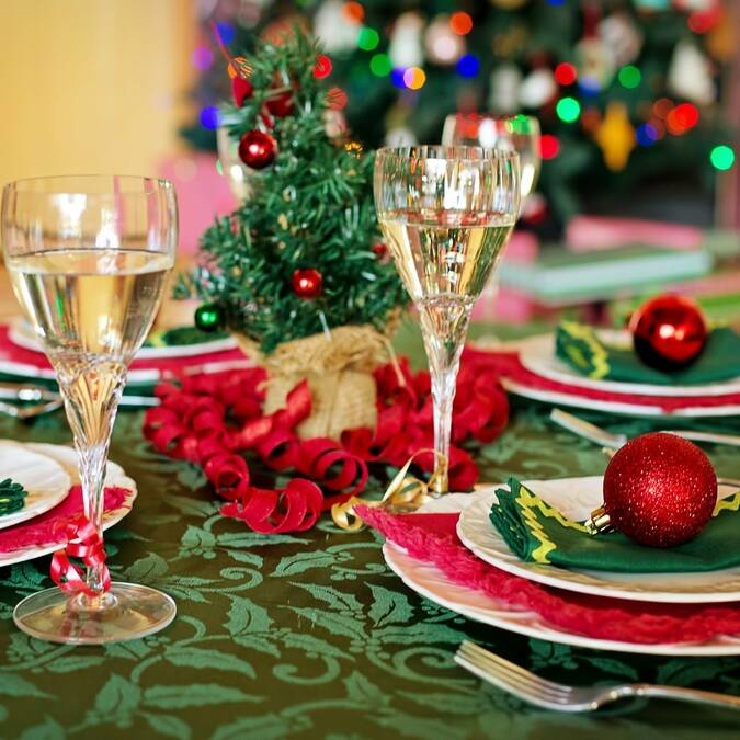 Table de fête - Repas de Noël à emporter à Angers