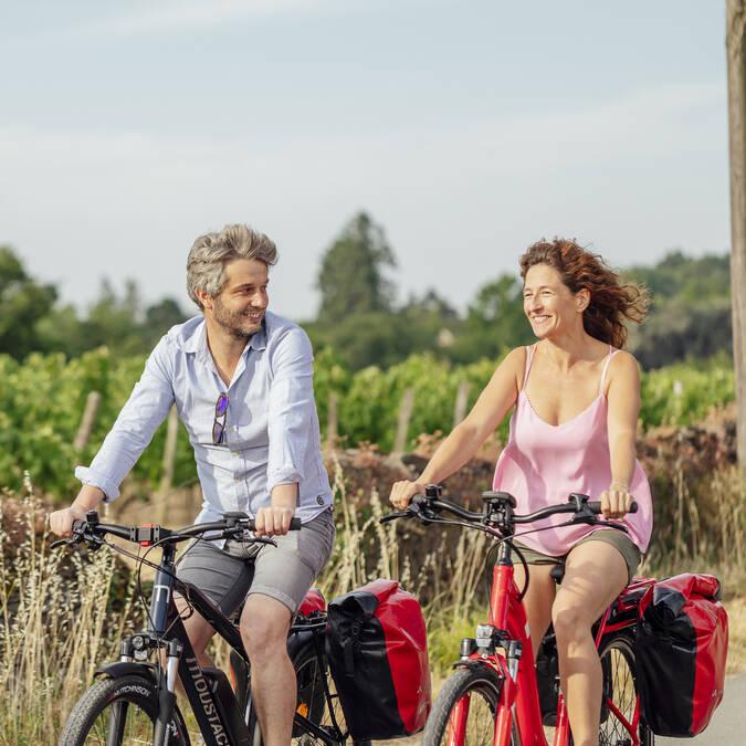 Balade à vélo dans le vignoble